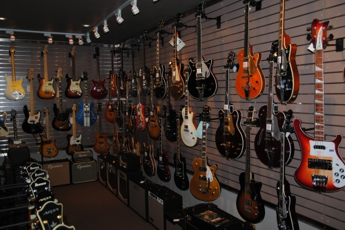 inside The Guitar Boutique, Bethany, Ontario