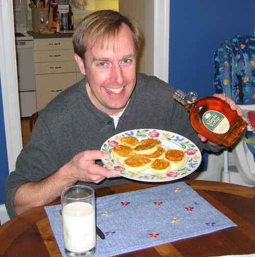 Jeffrey.Kerr.Enjoying.Moores.Maple.Syrup
